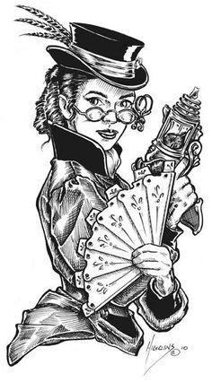 Steampunk Woman by Don Higgins | ArtWanted.mobi