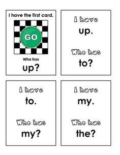 "Reinforce sight words with this fun student game... ""I Have...Who Has?"" Game {Sight Words}   29 pages of fun, $"