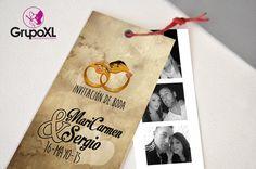 Invitaciones de boda realizadas para Sergio & Mari Carmen. Una forma diferente de invitar a los suyos de lo más original.