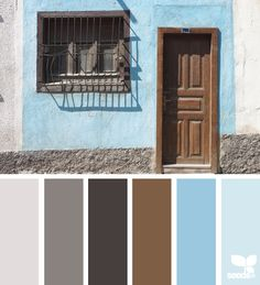 Door Hues: Ice Grey, Dark Grey, Chocolate Grey, Hershey Brown, Baby Blue and Aqua Blue