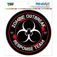 Graphics and More Zombie Outbreak Response Team Biohazard Red Automotive Car Refrigerator Locker Vinyl Magnet Biohazard, Zombie Gifts, Plant Zombie, Best Zombie, Zombie T Shirt, Presents For Him, Gift Suggestions, Car Magnets, Bumper Stickers