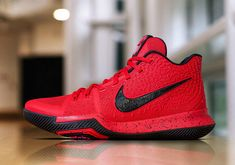 0bf628f18c3 Nike Kyrie 3 University Red Release Date. This Nike Kyrie 3 was worn by  Kyrie Irving in the 2017 Three Point Contest in University Red