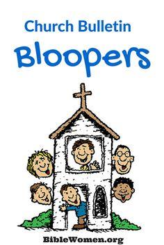 Humorous Church bulletin bloopers
