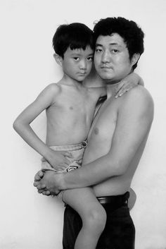 father/son 30 yr. photo piece. 1994.