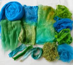 Handdyed Fibers for Felting Spinning and Papermaking by ArtsyDane