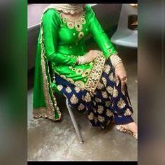 Punjabi suits patiala salwars sets bridal lehenga and sarees. velvet dress unstitched ready for customisation. D esigner sarees ,indian sari ,bollywood saris and lehenga choli sets. Indian Suits, Indian Attire, Indian Dresses, Indian Clothes, Pakistani Clothing, Pakistani Dresses, Patiala Salwar Suits, Punjabi Suits, Phulkari Suit