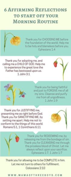 6 Affirming Reflections to start your Morning Routine - Mama of Three Boys Christian Songs, Christian Women, Christian Living, Christian Resources, Christian Faith, Give Me Jesus, Jesus Is Lord, Effective Prayer, Morning Affirmations