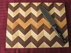 The quick and dirty instructions on how to make a zig-zag pattern cutting board. - by ganders @ LumberJocks.com ~ woodworking community