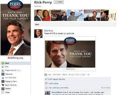"Women Continue To Fill Rick Perry's Facebook Wall With Mock Questions:     Here's the first of more than 5,600 comments we saw this morning when we went to Texas Gov. Rick Perry's Facebook page and opened up a post on his wall thanking those who supported his bid for the Republican presidential nomination: ""Governor Perry, I am experiencing mid-cycle cramping. Is this a punishment from god for not getting pregnant this month?"" <3"