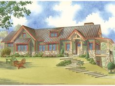 Craftsman House Plan with 1920 Square Feet and 2 Bedrooms from Dream Home Source | House Plan Code DHSW077880
