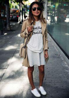 Weißes T-Shirt kombinieren: Look 16
