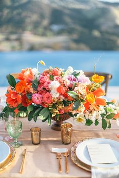 #centerpiece Photography: Max Wanger Read More: http://www.stylemepretty.com/2013/10/29/malibu-wedding-from-max-wanger-bash-please/