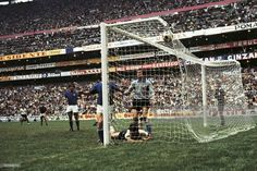 Italy 4 West Germany 3 in 1970 in Mexico City. Gerd Muller forces extra time in the World Cup Semi Final.