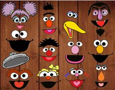 Sesame street digital cut-outs for pompoms, balloons, bags, decor etc Sesame Street Crafts, Bert Sesame Street, Sesame Street Christmas, Sesame Street Party, Sesame Street Birthday, 2nd Birthday Boys, 2nd Birthday Parties, Elmo Birthday Invitations, Elmo And Friends