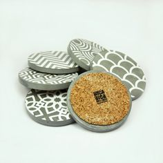 Set of 6 Coasters cement handmade art deco Hotel by MicaRicaShop $28.16 #cement…