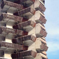 "(@brutgroup) on Instagram: ""Hotel ""Amanauz"" Dombay, Karachay-Cherkess Republic, Russia, 1985, Architect: G.…"""