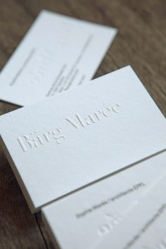 Cartes De Visite Gaufrage Et Impression Typo Au Verso Blind Emboss And Letterpress Kiss For Business Cards