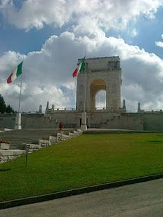 The 'Sacrario' which is a monument to remember those that perished in the Wars in Asiago, Italy. I am proud to say, my grandfather was one of the workers hired to build it. :-)