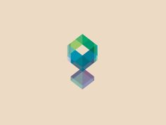 Interesting logo using geometry and colour overlap.