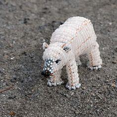 beaded polar bear