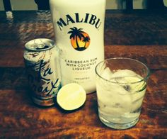 ***This is a very refreshing drink! Very tasty and low calorie!*** Piña Croixlada- Skinny Piña Colada made with Coconut La Croix, Malibu Rum and lime.