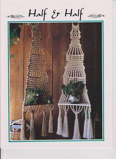 Macrame Plant Hanger Pattern. Vintage 1970's Macrame Pattern. Instant PDF Download.Macrame Wall Hanging Pattern.Fiber Craft
