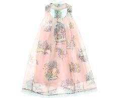Miss Blumarine Junior Girls Pink Carousel Print Dress