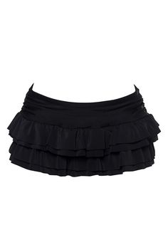 Black Double Ruffle Skirt Swim Bottom to go with the tankini top.