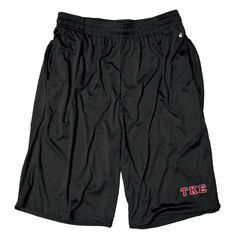 TEKE Black Pocketed Performance Shorts