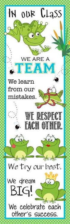 FROG Theme Classroom Decor/ Character Education Banner / X-Large / In Our Class/ Vistaprint.com / JPEG / ARTrageous FUN