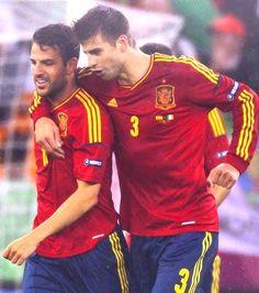 @Daniela Contreras can we have them pleasee!! <3 Cesc Fabregas and Gerard Pique