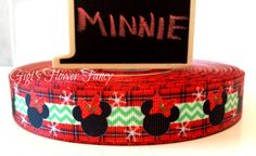 Check out this item in my Etsy shop https://www.etsy.com/listing/253749115/5-yds-minnie-mouse-holiday-ribbon