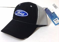 New FORD HAT Black/Gray Distressed Cotton Relaxed-Fit Casual Men/Women Car/Truck #Ford #BaseballCap