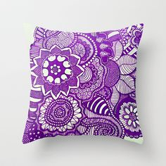 Purple+Patterns+Throw+Pillow+by+Rachel+-+$20.00