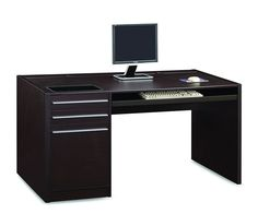 Coaster Home Furnishings 800982 Contemporary Computer Desk, Cappuccino * Be sure to check out this awesome product. (This is an affiliate link) #ModernHomeDecor