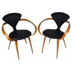 """Paire de fauteuils """"Cherner"""", Norman CHERNER - années 70"""