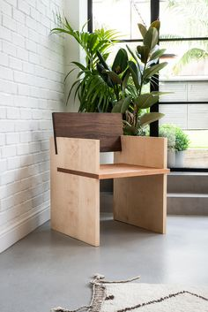 Arcadia Chair is a minimalist chair created by Stockholm-based designer Nick Ross for ÅBEN Easy Wood Projects, Easy Woodworking Projects, Woodworking Plans, Woodworking Techniques, Woodworking Furniture, Project Ideas, Plywood Furniture, Diy Furniture, Furniture Design