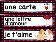 Saint-Valentin - vocabulaire GRATUIT! French Valentine's Day Valentines Day Words, Free In French, Literacy, Wall, Guessing Games, Simple Words, Day Care, Vocabulary, Preschool