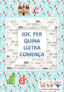 JOC PER QUINA LLETRA COMENÇA... - ST. JORDI. DETALLS AMB ÀNIMA Box, Snare Drum, Boxes