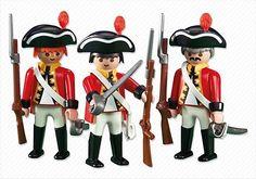 PLAYMOBIL TRES SOLDADOS INGLESES REF 6229 pirata barco bucanero espada arma NEW