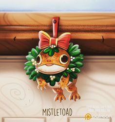Daily Paint 1482. Mistletoad #illustration by Piper Thibodeau