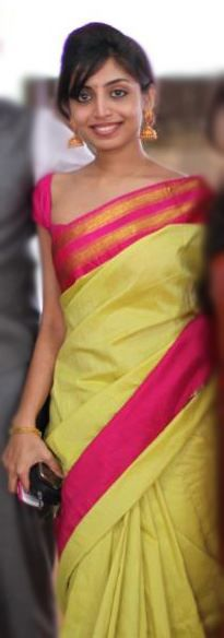 silk sari...love the color combo!