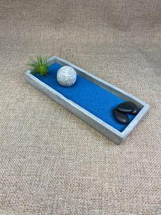 Zen Sand Garden Plate Rectangle, Japanese Zen Garden, Meditation Garden, Desktop Zen Garden, DIY Zen Rectangle zen plate to create your own zen garden mini or desktop meditation garden. Create a Zen R