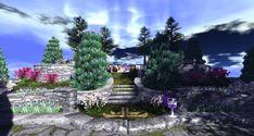 Fantasy Faire 2018 - Pools of Ethuil Spring Tree, Pathways, Elves, Pools, Mystic, Fantasy, Lights, Explore, Nature