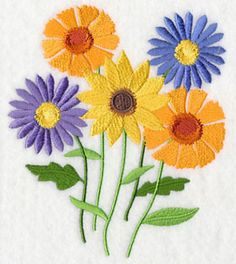 Falling for Flowers - Free Machine Embroidery Designs at Embroidery Library! - Free Machine Embroidery Designs