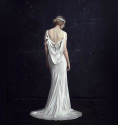 Beautiful back - not sure how to buy this - from Austrailia - Johanna Johnson The Edie - LOVE the name, too!  - 25 Dazzling Art Deco Wedding Gowns