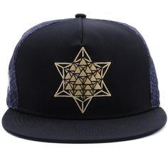 Star Tetrahedron Snapback Hat. Gorras Snapback 0ff11d34548