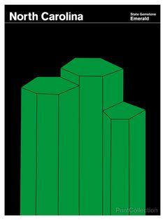 North Carolina Emerald | PrintCollection