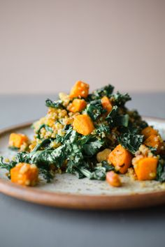 Warm Salad of Kale, Sweet Potatoand Quinoa  Each monthI write for KitchenGarden Magazine (check it out here) where I create recipes that follow the gardening seasons. It's a process...
