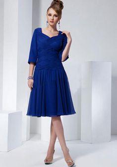 Concise Chiffon A line Dropped Waist Zipper Back Mother of the Bride Dresses - 1300304664B - US$209.99 - BellasDress
